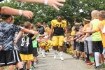 July 29, 2015- First day in pads at camp